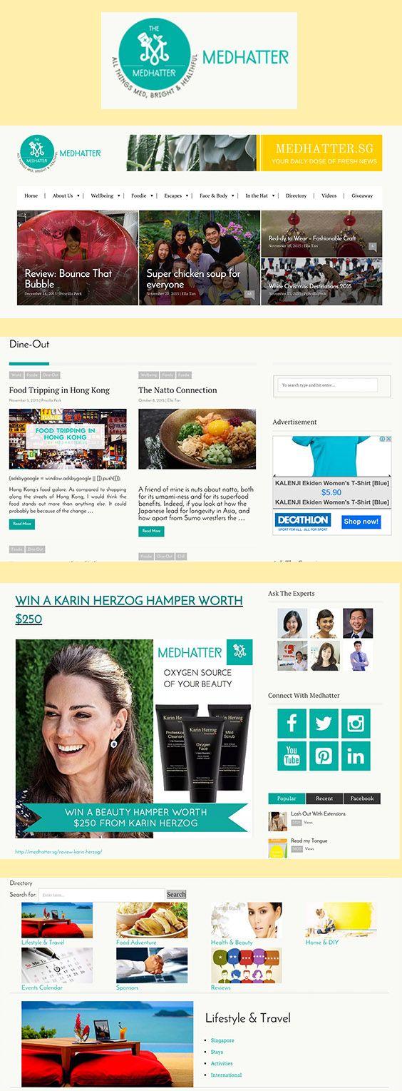 A site for Medhatter, a health & wellness news blog based in Singapore. medhatter.sg