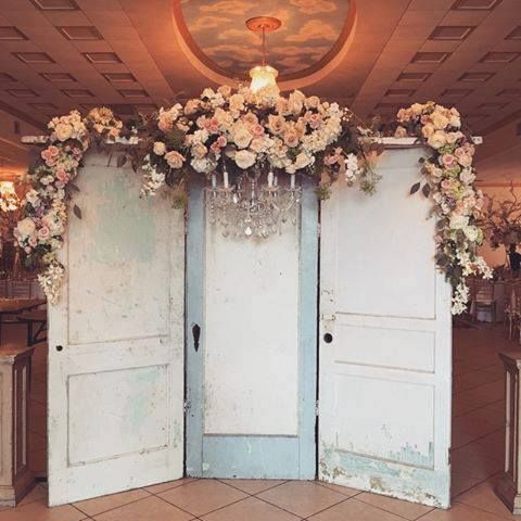 Adding doors like these can change a traditional space into one ready for a rustic chic wedding ~ Wink Design and Events