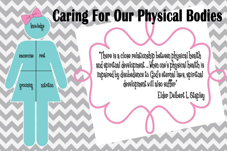 Pretty Printables For You: Young Women Handout Manual 1 Lesson 37 Caring For Our Physical Bodies