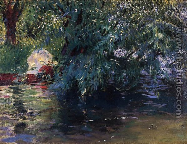 A Backwater, Calcot Mill near Reading - John Singer Sargent