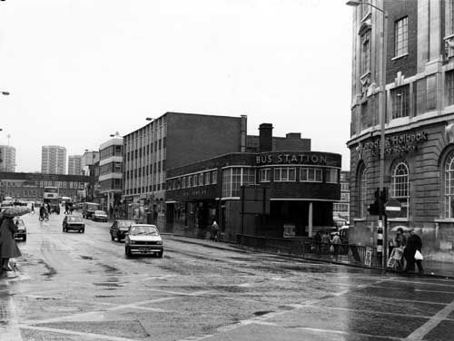 The old bus station vicar lane Leeds 1970s