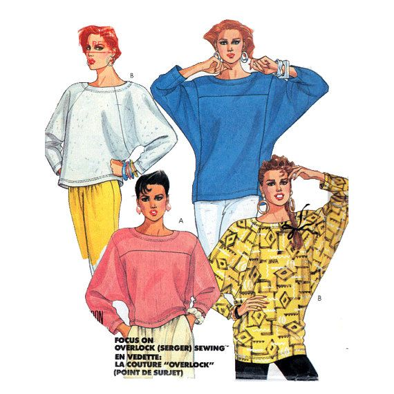 Vintage 80s Sewing Pattern UNCUT Easy Cosy by HoneymoonBus on Etsy