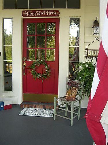 like the sign above the door & color of door