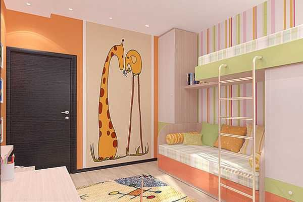 Kids room decorating ideas for young boy and girl sharing for Kids room makeover