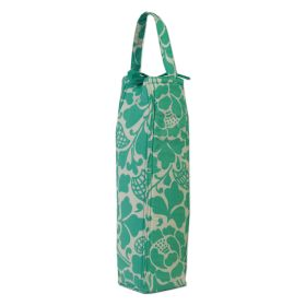 Organic Cotton :: Wine Bags :: Wine Bag Padded - Prada Turquoise