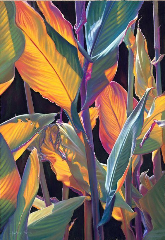 Tropicana Art Print of a Tropical Flower by ArtByJulene: Julene Baker-Smith