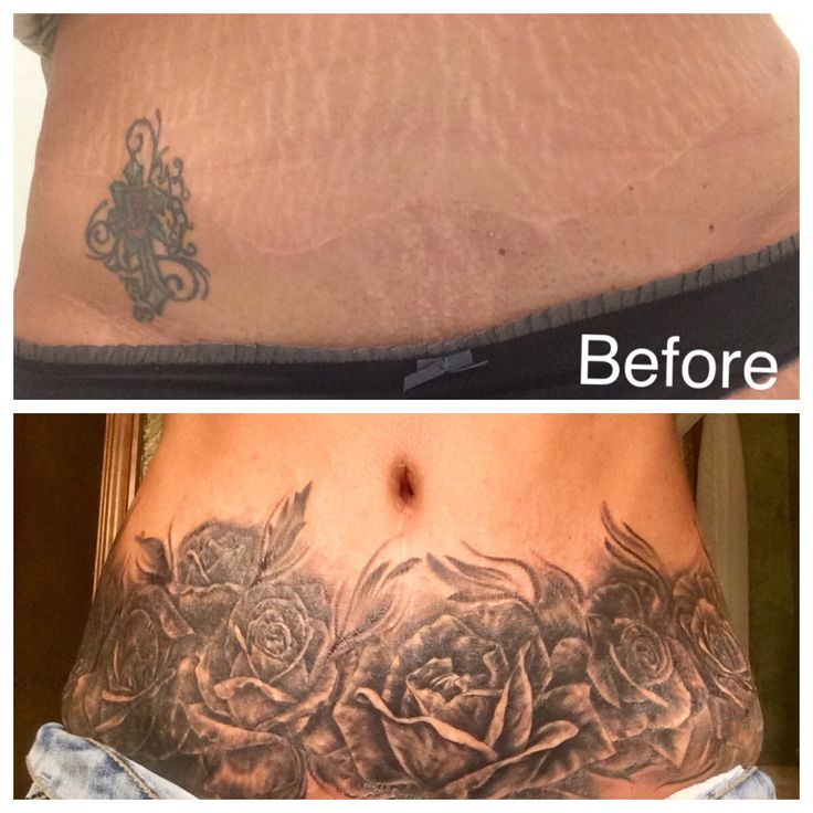 Stomach tattoo by drifter ballard levitate tattoo okc for Tattoos on stomach to cover stretch marks
