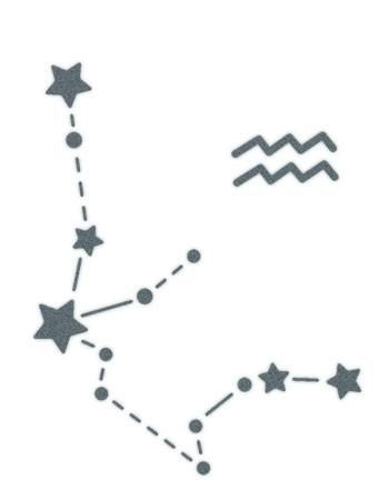 Aquarius Sign Constellation Stars-REALISTIC TEMPORARY TATTOOS FAKE TATTOOS THAT LOOK LIKE THE REAL THING!