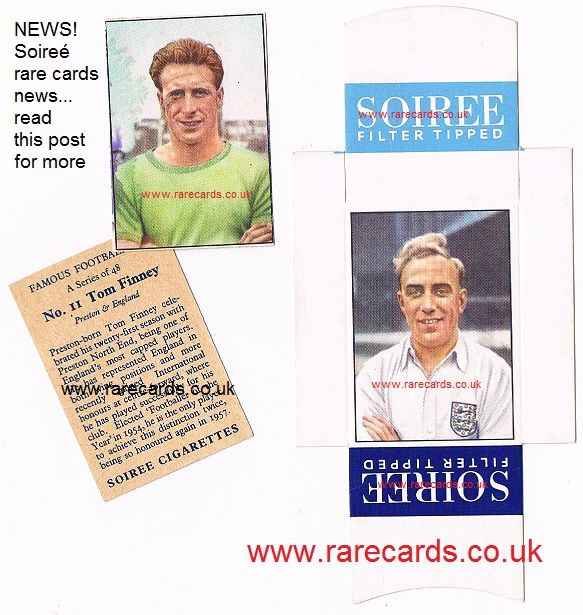 Soireé cigarette cards famous footballers. How to know which are rare and which are easier? EASY - SEE: https://www.facebook.com/rarecards