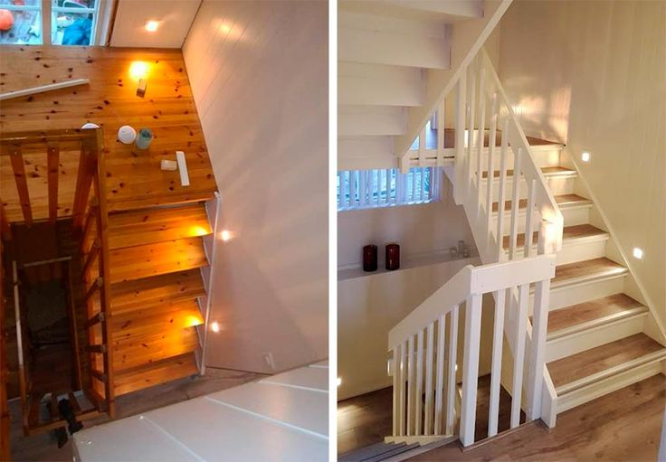 Med enkle knep forvandlet Camilla og samboeren den gamle furutrappa til en moderne trapp. Se hvordan de gjorde det.