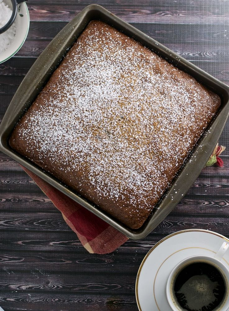 Date cake - a cake made from luscious dates that is so easy to make that soon this will be your go-to recipe. What is nice that you can make this in your blender as well!