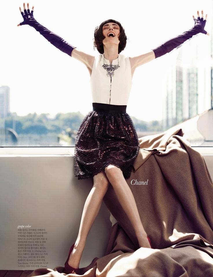 Iconic Coco   Coco Rocha   Hong Jang Hyun #photography   Elle Korea September 2012