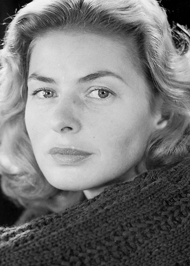 Ingrid Bergman, actriz de cine estadounidense.