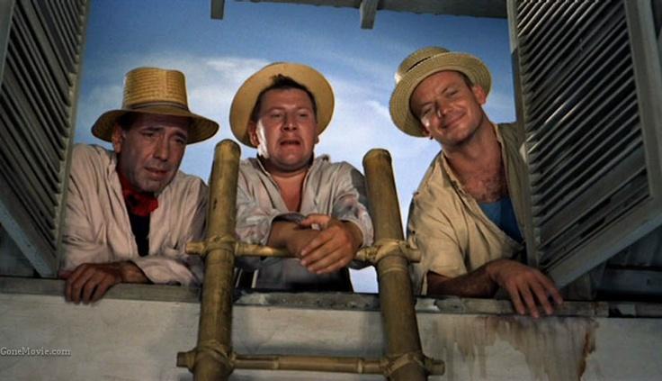 We're No Angels (1955) - Humphrey Bogart, Peter Ustinov, Aldo Ray. Love this movie. Hilarious.