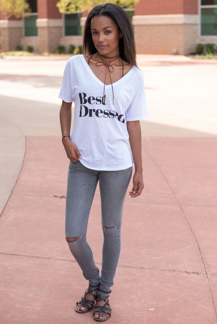 Best Dressed slouchy v-neck t-shirt