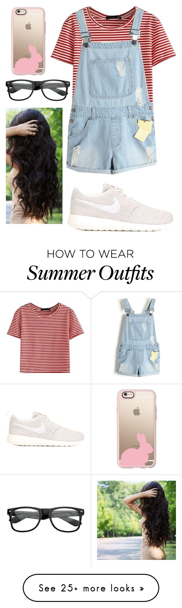 """Outfit #220. Teen summer look"" by sarahstacey on Polyvore featuring WithChic, NIKE and Casetify"