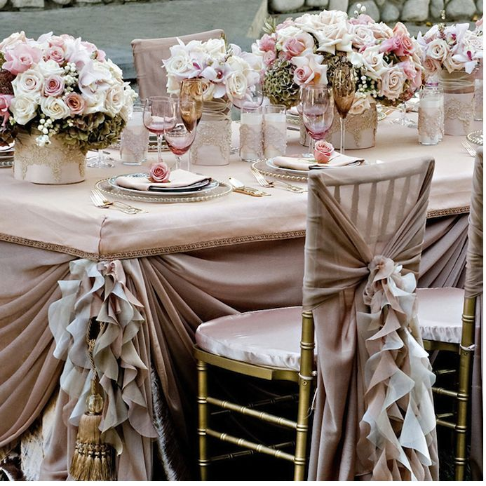 20 best wedding atmospheredecor images on pinterest decorating weddbook frilly pale pink wedding table design for dream wedding wedding decoration with pink roses and ruffled wedding chair covers and sashes junglespirit Choice Image
