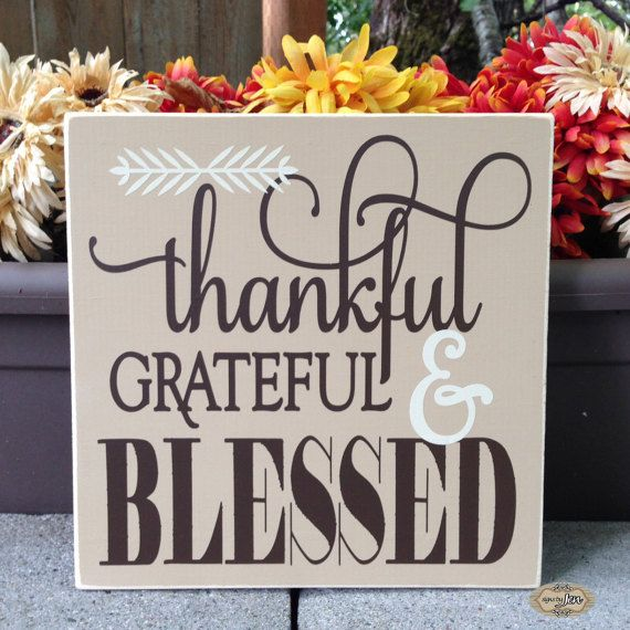 Thankful Grateful and Blessed Thankful Grateful by SignsbyJen