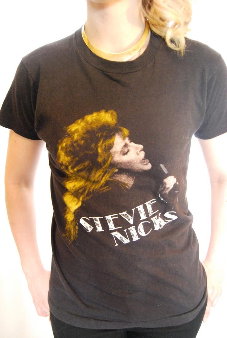 T shirt whitesnake - Authentic Vintage Stevie Nicks Concert T Shirt 1986 Rock A Little Tour Size Small