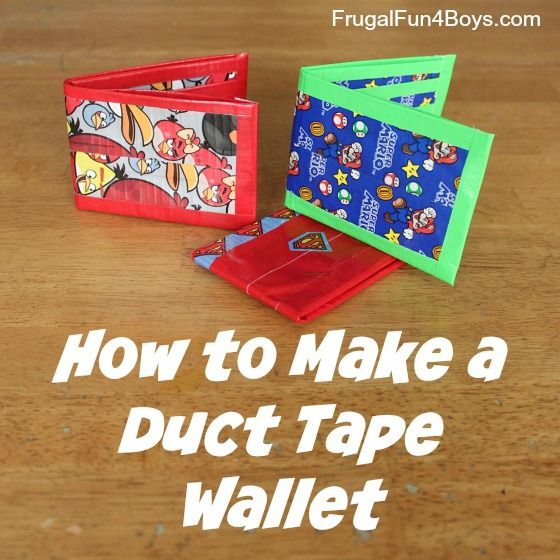How to Make a Duct Tape Wallet   - 40 Easy DIY Duct Tape Crafts Instructions - Big DIY IDeas