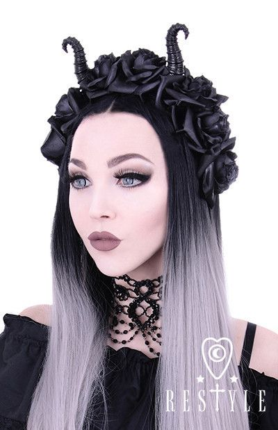 Diabolical & Roses headband, Gothic Wreath, Maleficent headpiece