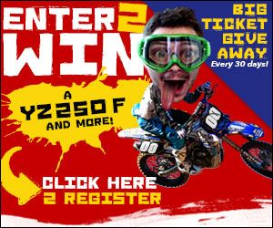 Enter to win a Yamaha YZ250F and more great monthly prizes!  http://www.cycletrader.com/raceteam/fans