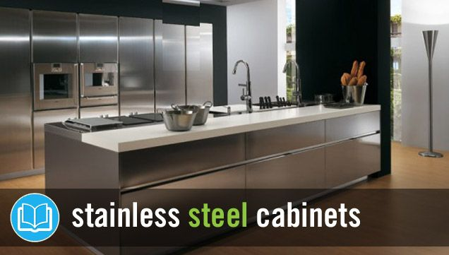 KCK kitchen remodeling tip: Stainless steel has become a fixture of contemporary kitchen design, seen in everything from sinks to counter tops to major appliances. Now, some innovative manufacturers are taking stainless to the next level by constructing kitchen cabinets from this bright and durable material. Stainless steel has a crisp and minimalist look that complements modern interiors, while its industrial flair works well in more traditional settings.