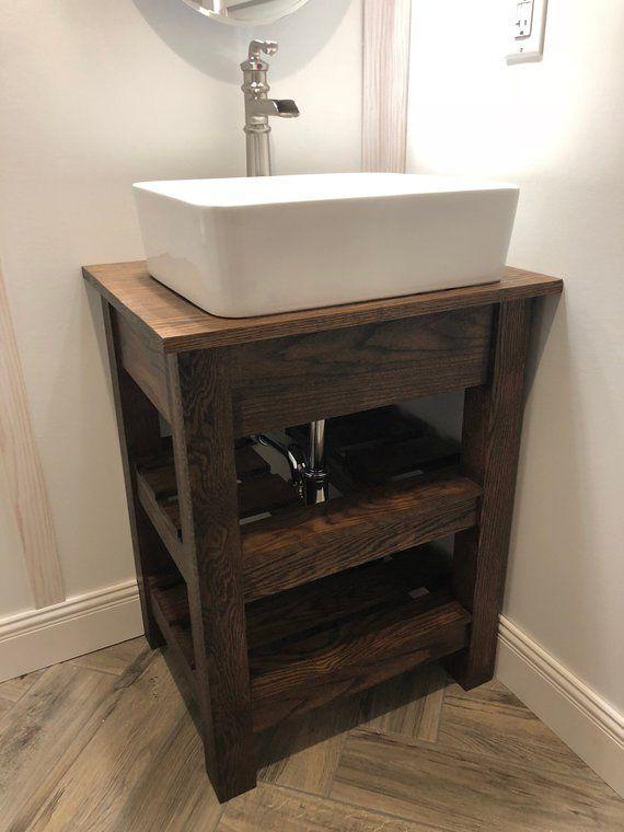 24 Rustic Bathroom Vanity Custom Includes Sink Faucet