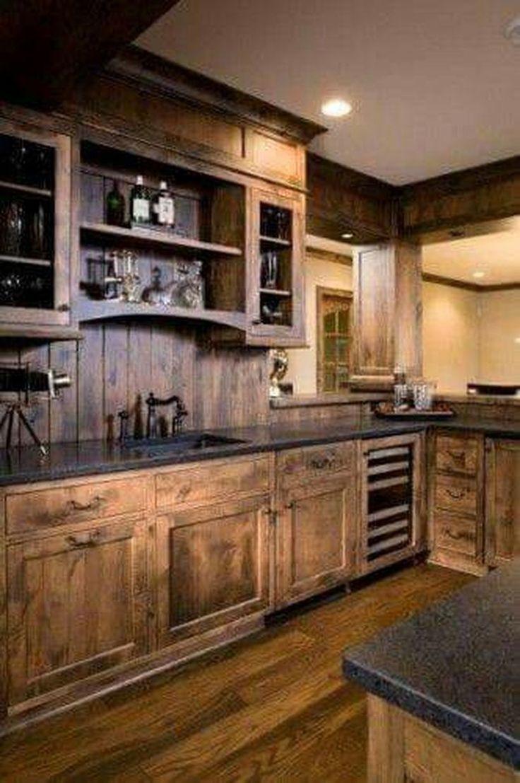 Rustic Western Style Kitchen Decor Ideas 132   Rustic ...