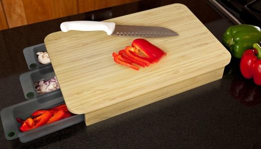Mocubo - Cutting board with prep bowls ...