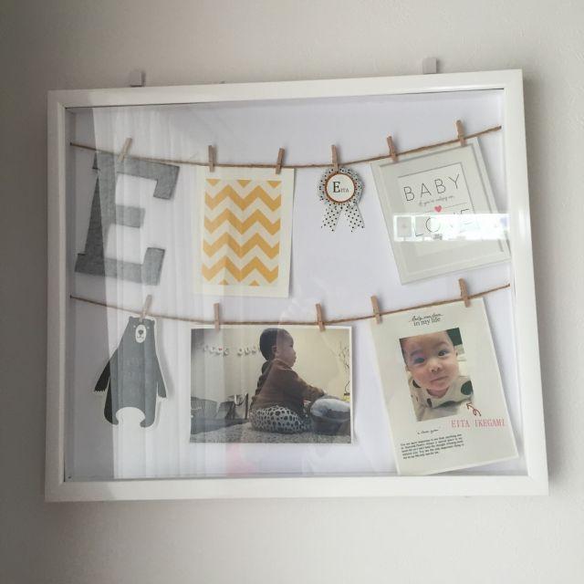 GAMIさんの、ハンドメイド,DIY,モノトーン,雑貨,子供部屋,白黒インテリア,写真,写真立て,のお部屋写真
