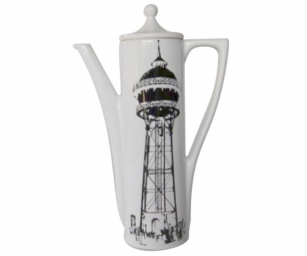 Symbols of the City Executive Coffee Pot. Available individually or in a set. #johannesburg #coffee #pot #white #black
