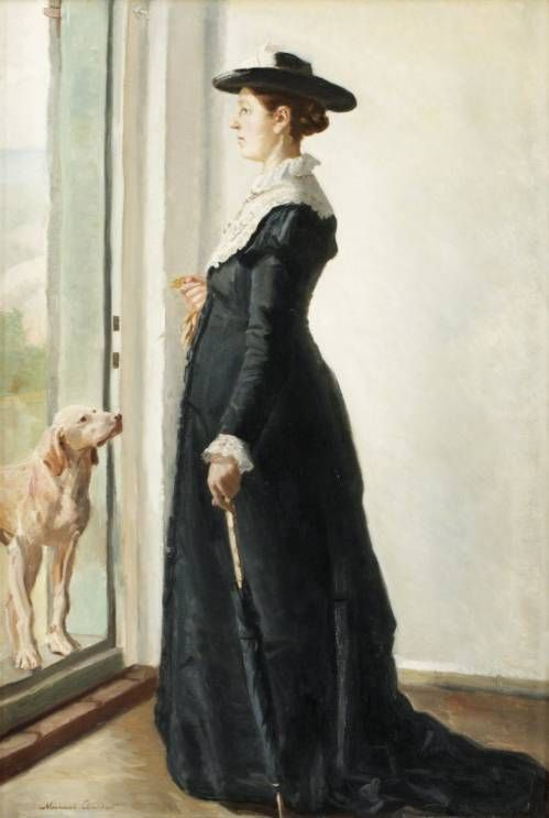 Portrait of Anna Ancher by  Michael Peter Ancher (Danish artist, 1849-1927)