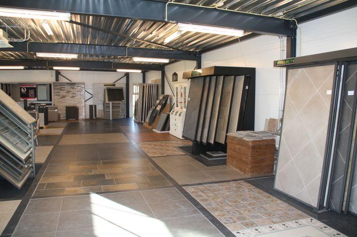 Voorbeeldvloeren op de boven verdieping van Tegelhuys Wijhe