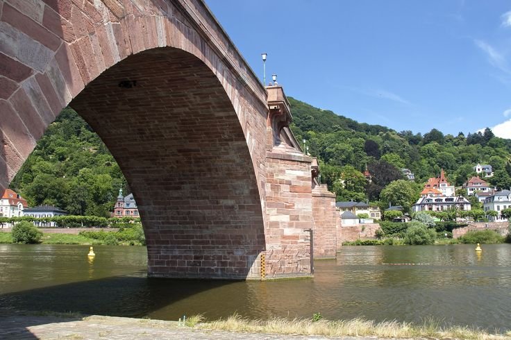 Stone bridge over the river Neckar Heidelberg