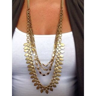 Layered Chain Gold Statement Necklace | Sutton Necklace | Stella & Dot | www.stelladot.com/deannmcneil