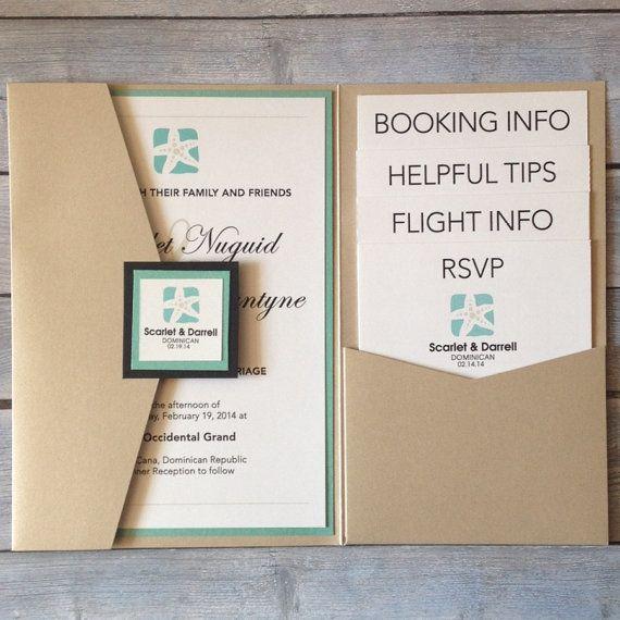 "Destination Wedding Invitations Wording: Gorgeous Destination Wedding Invitation "" Scarlette"