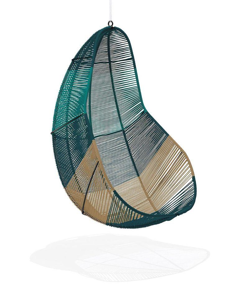"""Hängestuhl-Zicatela Im Hängesessel """"Zicatela"""" kann man sanft dem Alltag entschweben. Wie der Acapulco Chair wird er in Handarbeit in einer kleinen Fabrik in Mexiko hergestellt und zeichnet sich durch die hochwertige Materialien und Verarbeitung aus. Exklusiv und neu bei VIVA MEXICO CHAIR."""