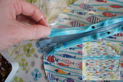 Sew, Mama, Sew blog.  Round Travel Bag.