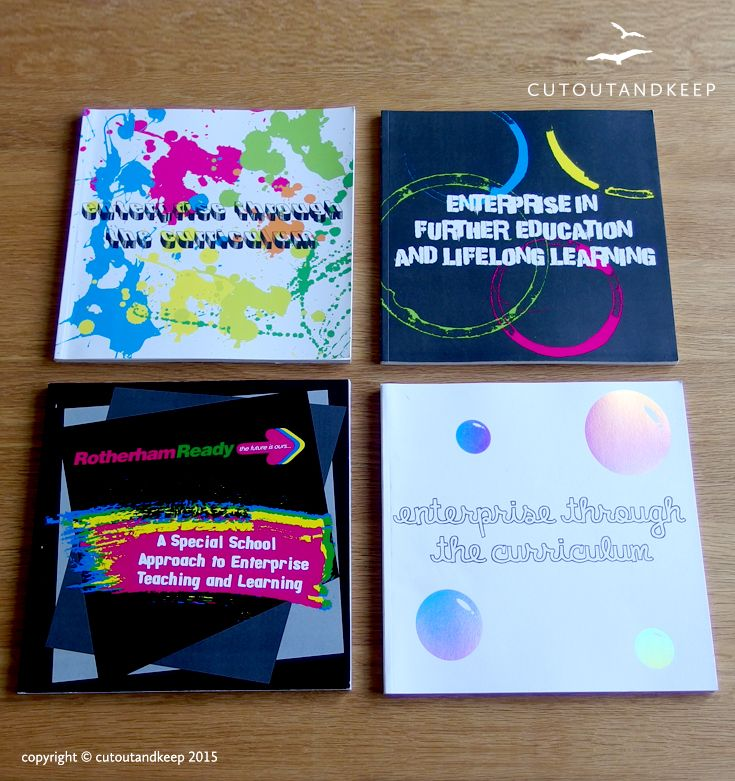 Rotherham Ready Enterprise Through the Curriculum books. copyright © cutoutandkeep 2015