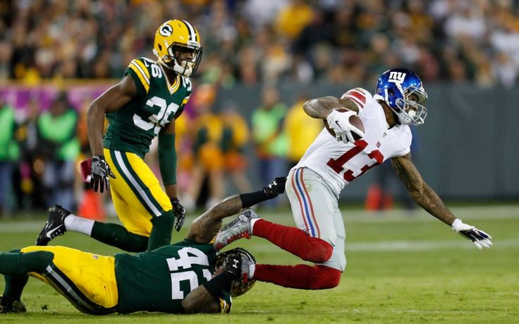 23-16, Packers:    New York Giants' Odell Beckham catches a pass during the first half of an NFL game against the Green Bay Packers Sunday, Oct. 9, 2016, in Green Bay, Wis.