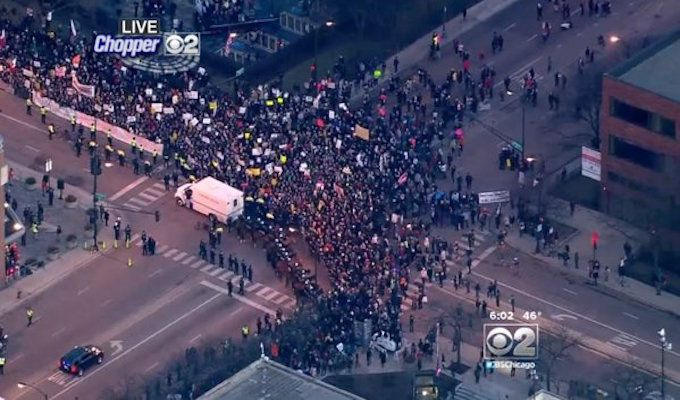 chicago_riot_trump ALERT: AFTER TRUMP WINS ELECTION, MUSLIMS SCREAM DEATH TO AMERICA IN THIS U.S. CITY