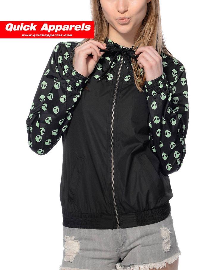 http://www.quickapparels.com/women-stylish-black-green-alien-printed-windbreaker-jacket.html