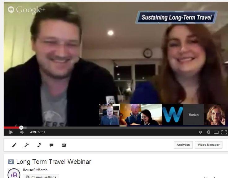 Housesitters Sustain Longterm Travel Webinar & Expert Panel