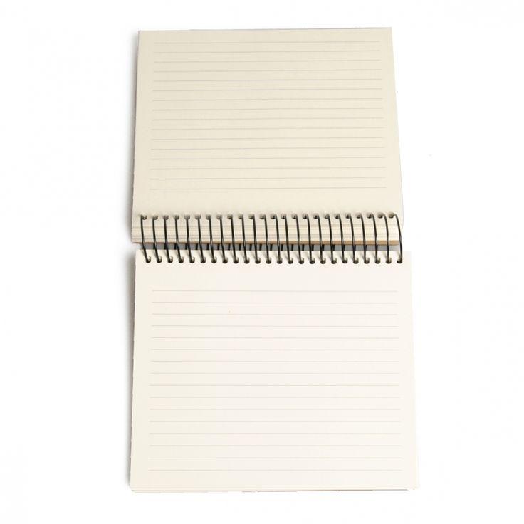Dille & Kamille notitieboekje, gelinieerd papier, 16,5 x 16,5 cm