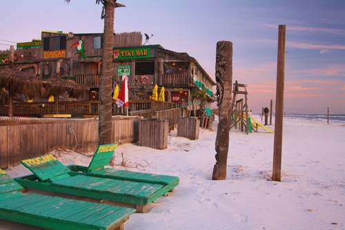 Toucan's Bar & Grille at Mexico Beach, Florida.