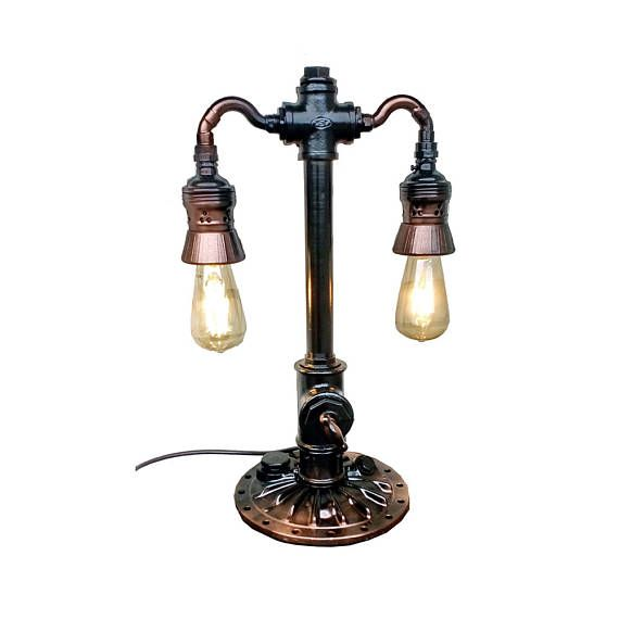 Pipe Lamp Industrial Lighting Steampunk Loft