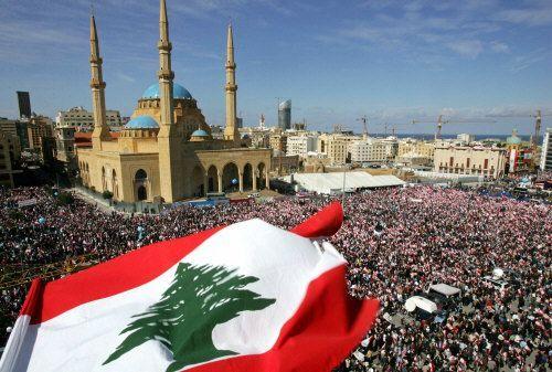 Libanesen gedenken in Beirut dem ermordeten Ministerpräsidenten Rafik ...