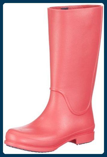 crocs Wellie Rain Boot W 12476-6C3, Damen Gummistiefel, Rot (Cranberry/Mulberry 6C3), EU 39/40 - Stiefel für frauen (*Partner-Link)