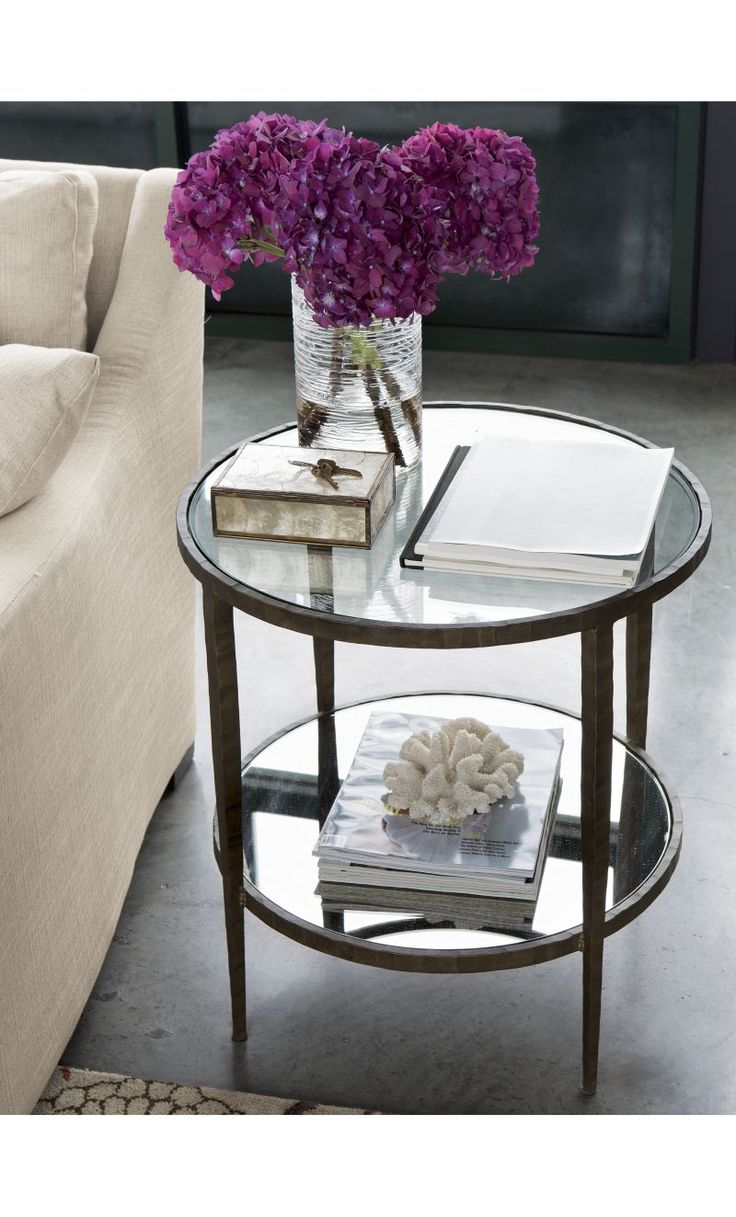 Clairemont Round Side Table | Crate and Barrel